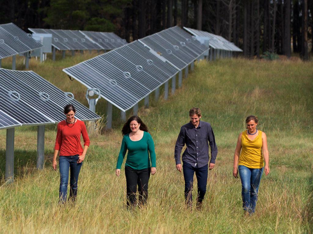 CPA Directors at a community solar farm