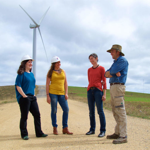 CPA directors at a wind farm.