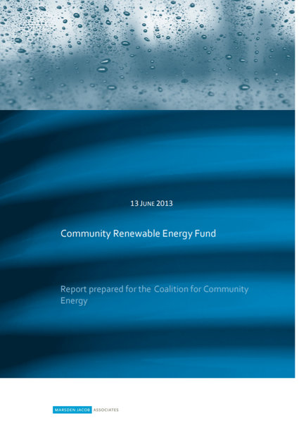 Community Energy Fund Report