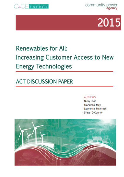 Renewables For All - ACT Discussion Paper 2015