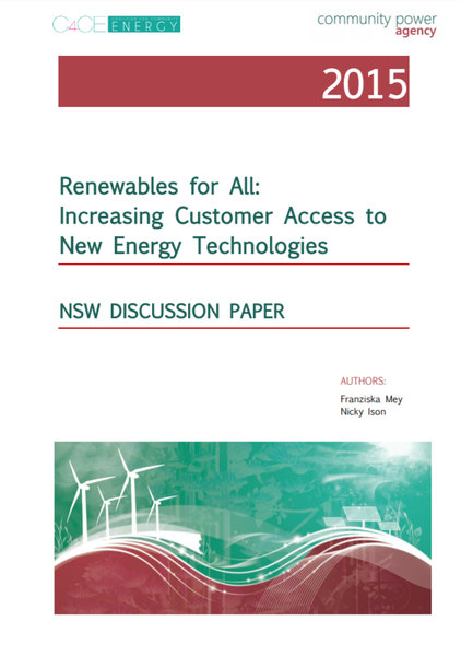 Renewables For All - NSW Discussion Paper 2015