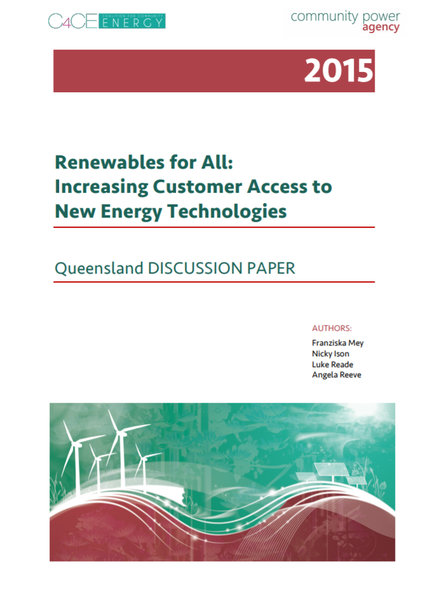 Renewables For All - QLD Discussion Paper 2015