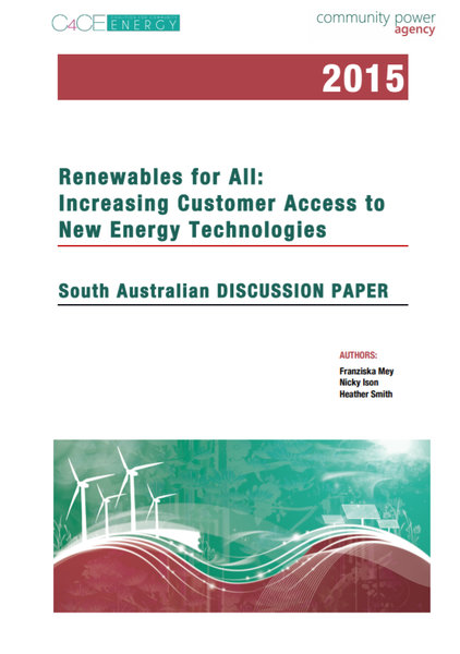 Renewables For All - SA Discussion Paper 2015