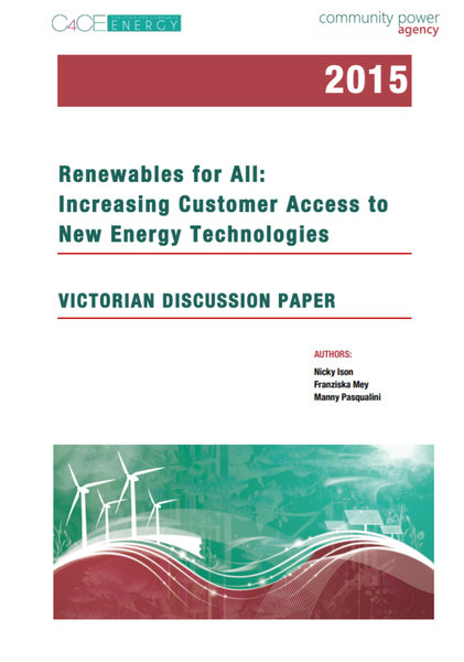 Renewables For All - VIC Discussion Paper 2015